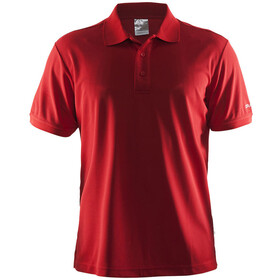 Craft Classic Polo Pique Fietsshirt Korte Mouwen Heren, bright red